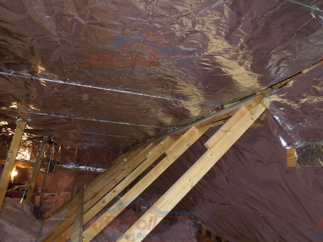 Flat Top Method Radiant Barrier Installation 05