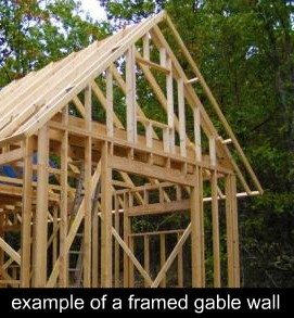 framed gable wall