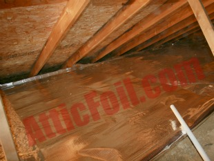 over the insulation radiant barrier method 101