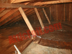 over the insulation radiant barrier method 102
