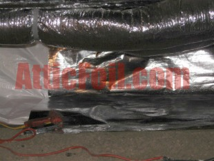crawlspace radiant barrier foil installation 1