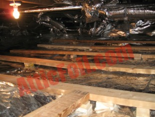 crawlspace radiant barrier foil installation 3
