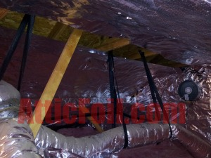 duct work in attic atticfoil radiant barrier