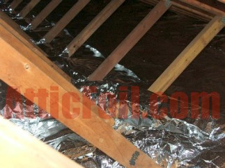 over the insulation radiant barrier reflective insulation
