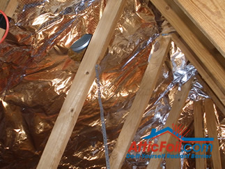 AtticFoil radiant barrier foil insulation installation photo