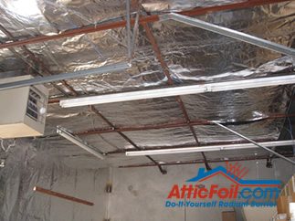 AtticFoil radiant barrier foil insulation installation metal building purlins