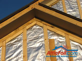 AtticFoil radiant barrier foil insulation installation house wrap siding