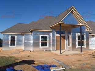House Wrap AtticFoil pics - Lake Willis TX install 310x233 2