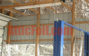 atticfoil install metal shed