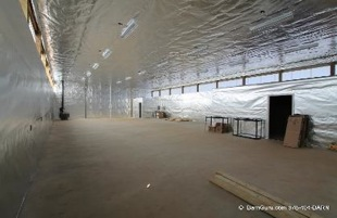 horse barn installation radiant barrier foil 1