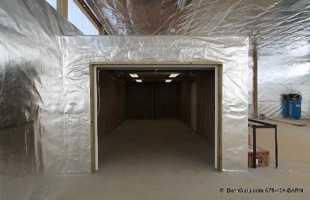 horse barn installation radiant barrier foil 3