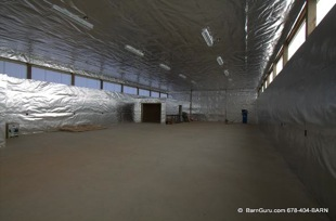 horse barn installation radiant barrier foil 5