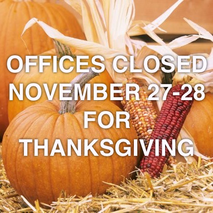2014 Closed for Thanksgiving