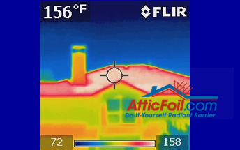 White roof thermal imaging