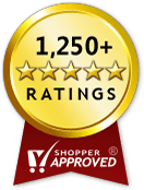 Shopper Approved, over 1,250 five-star ratings